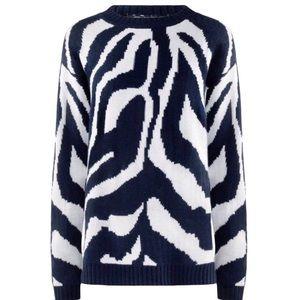 W118 by Walter Baker Zebra printed sweater small